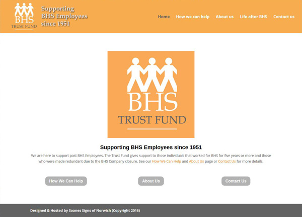 BHS Trust Fund Website