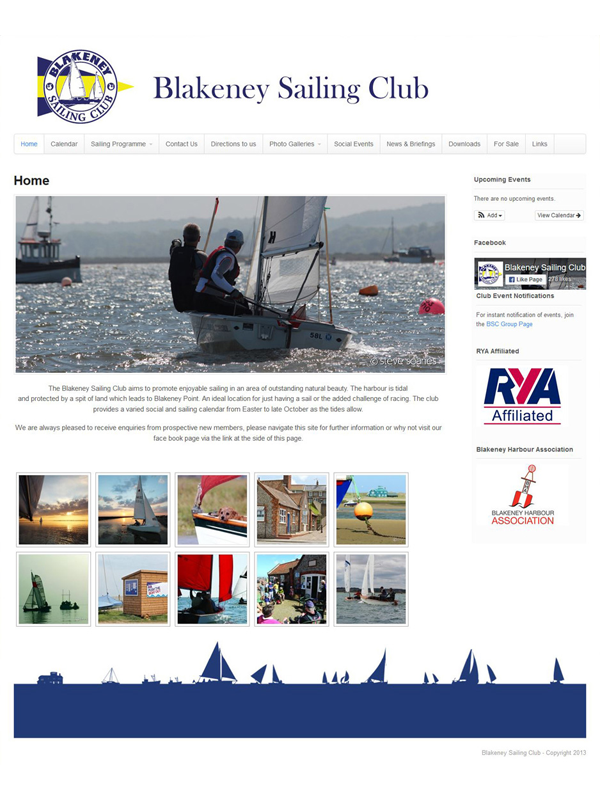 Blakeney Sailing Club Website