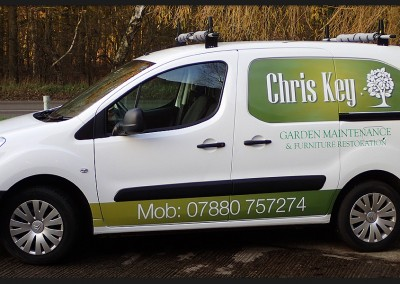 Digital print and vinyl vehicle graphics for Chris Key Citroen van