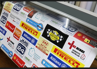 Digital printed bespoke labels available in all shaped and sizes with our in-house design service