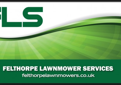 Logo and brand design for Felthorpe Lawnmower Services