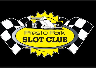 Logo design for Presto Park Slot Car Racing Circuit