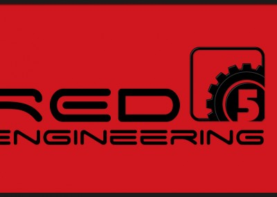 Red 5 Engineering logo design, used for business promotion through social media and website branding