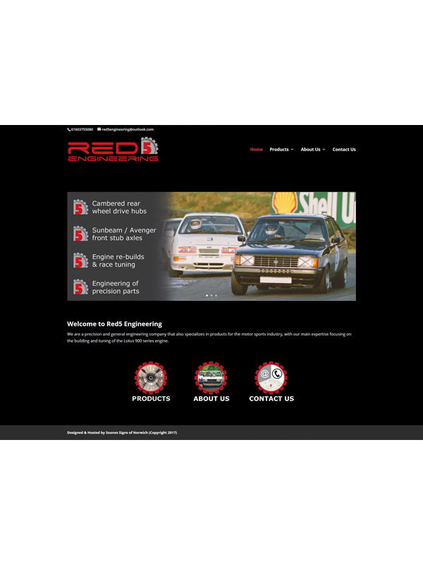 Red5 Engineering Website