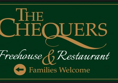 Sign and graphical brand design for The Chequers Freehouse and Restaurant