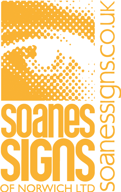 Soanes Signs 30 year Logo (Light on Dark)