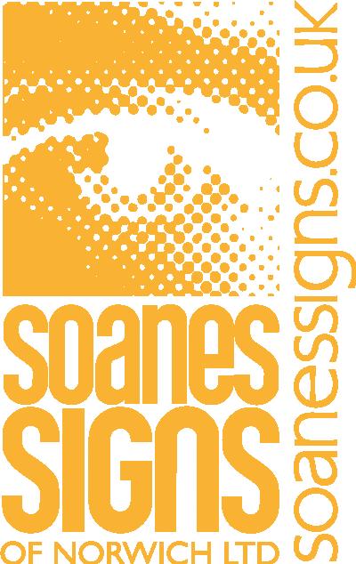 Soanes Signs 30 year Logo (Light on Dark)